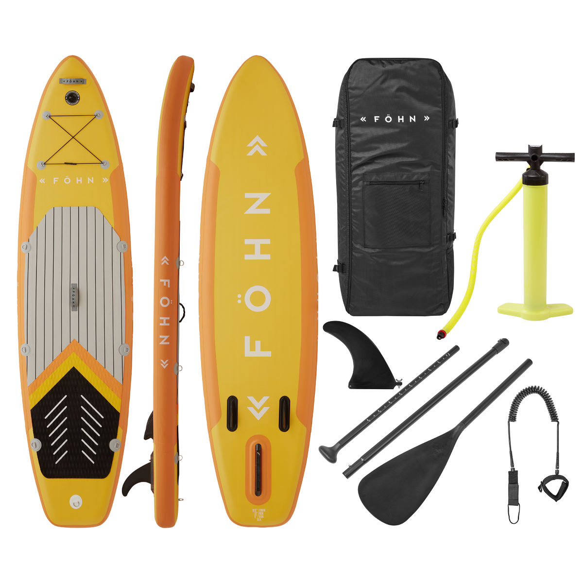 Fhn Adventure 102 Stand Up Paddle Board Package - One Size Yellow