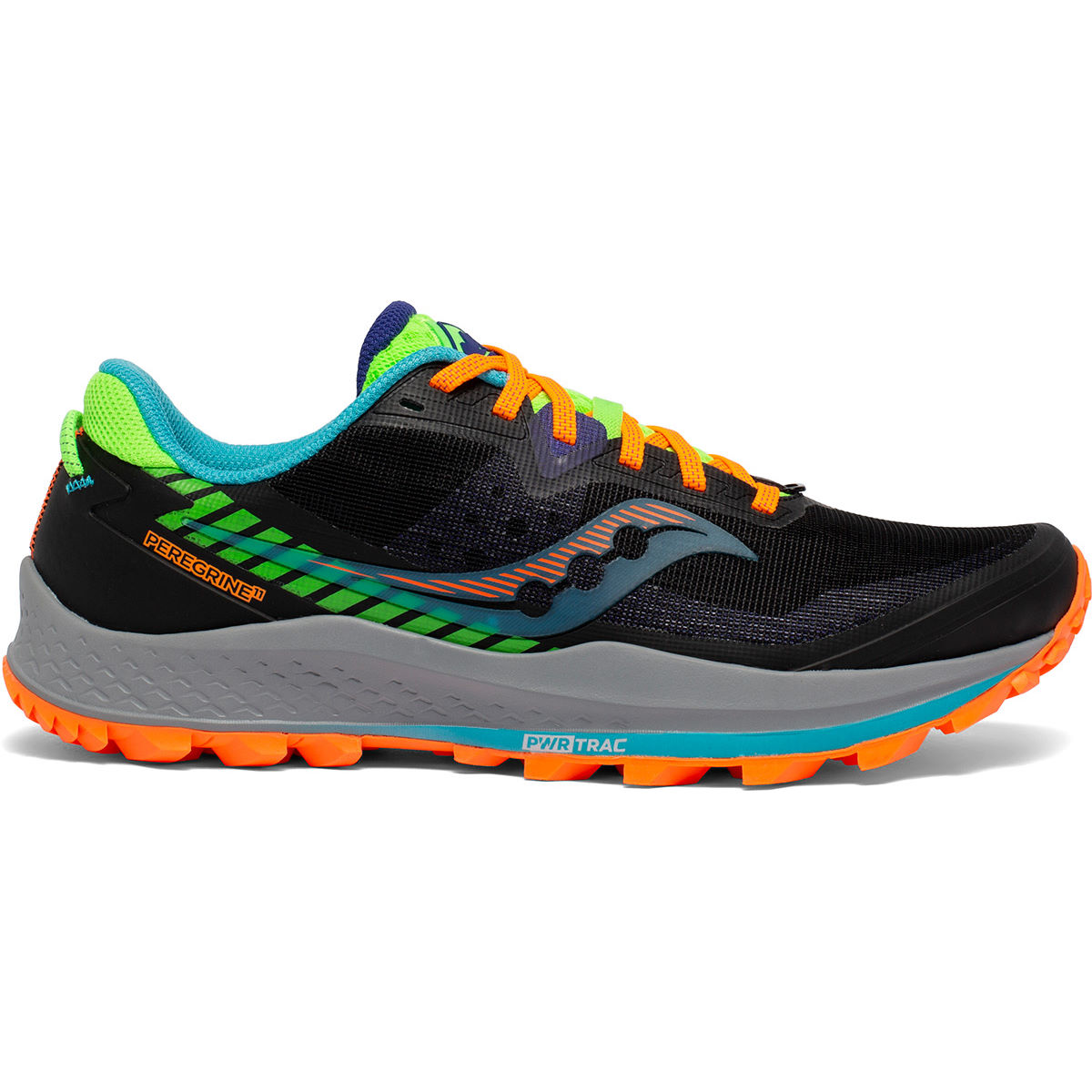 Saucony Peregrine 11 Running Shoes - Uk 11 Future Black  Trail Shoes