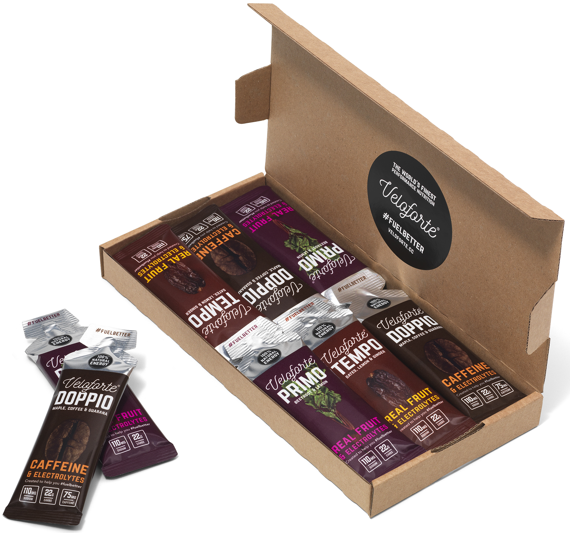 Veloforte Mixed Gel Vegan Energy Pack (12 x 33g) | energipakke