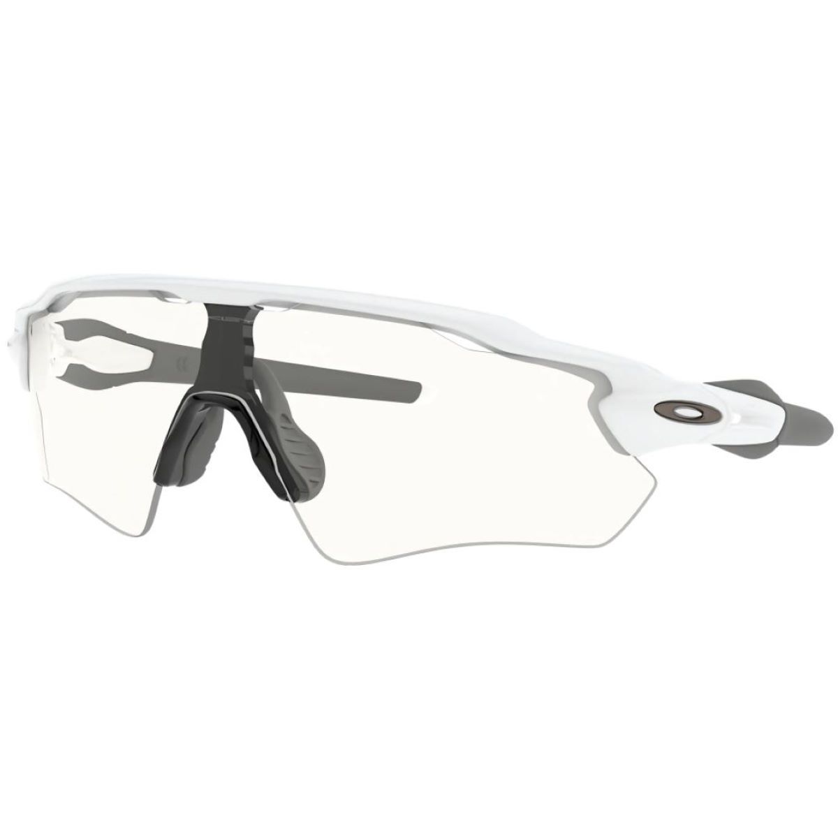 Oakley Radar Ev Polished White Clear Lens Sunglasses - One Size