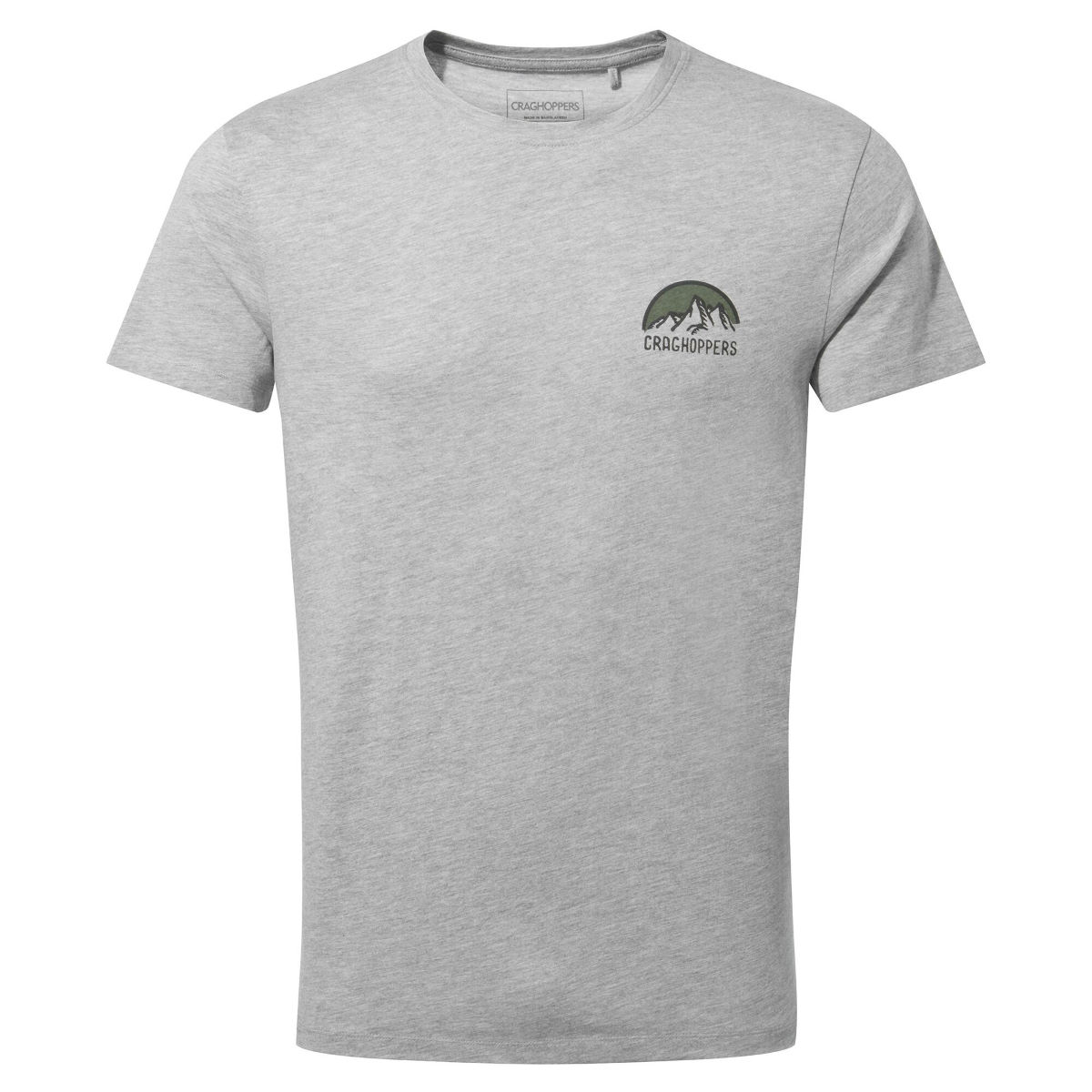 Craghoppers Mightie Short Sleeved T-shirt - Large Soft Grey Marl