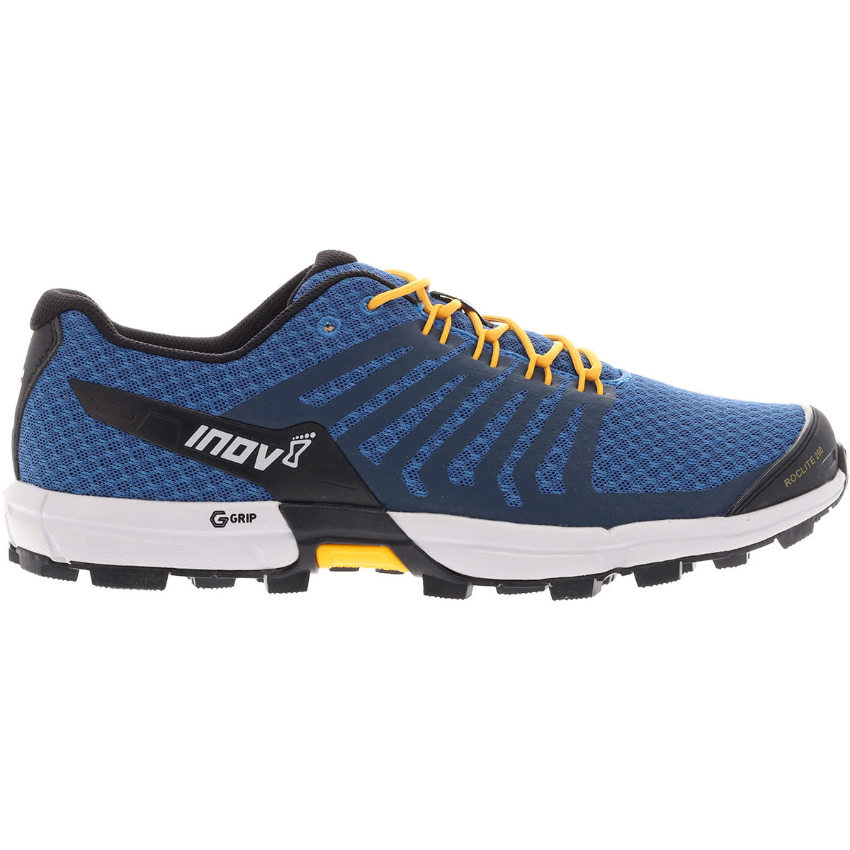 Inov-8 Roclite G 290 Running Shoes - Uk 8.5 Blue/yellow  Trail Shoes
