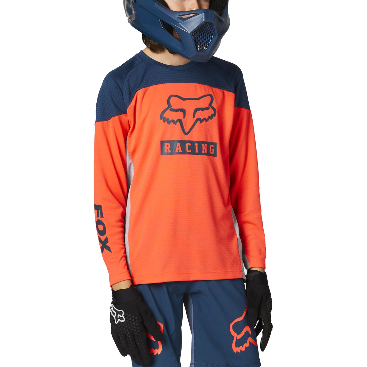 Fox Racing Youth Defend Long Sleeve Jersey - Yxl Atomic Punch
