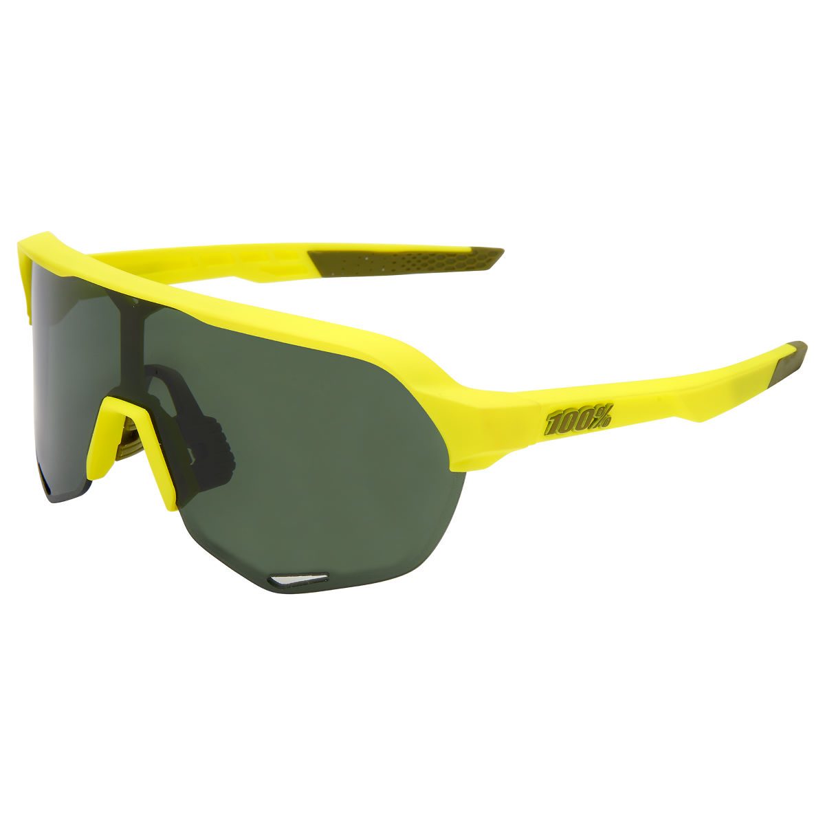 100% S2 Soft Tact Banana Sunglasses - One Size Grey Green Lens