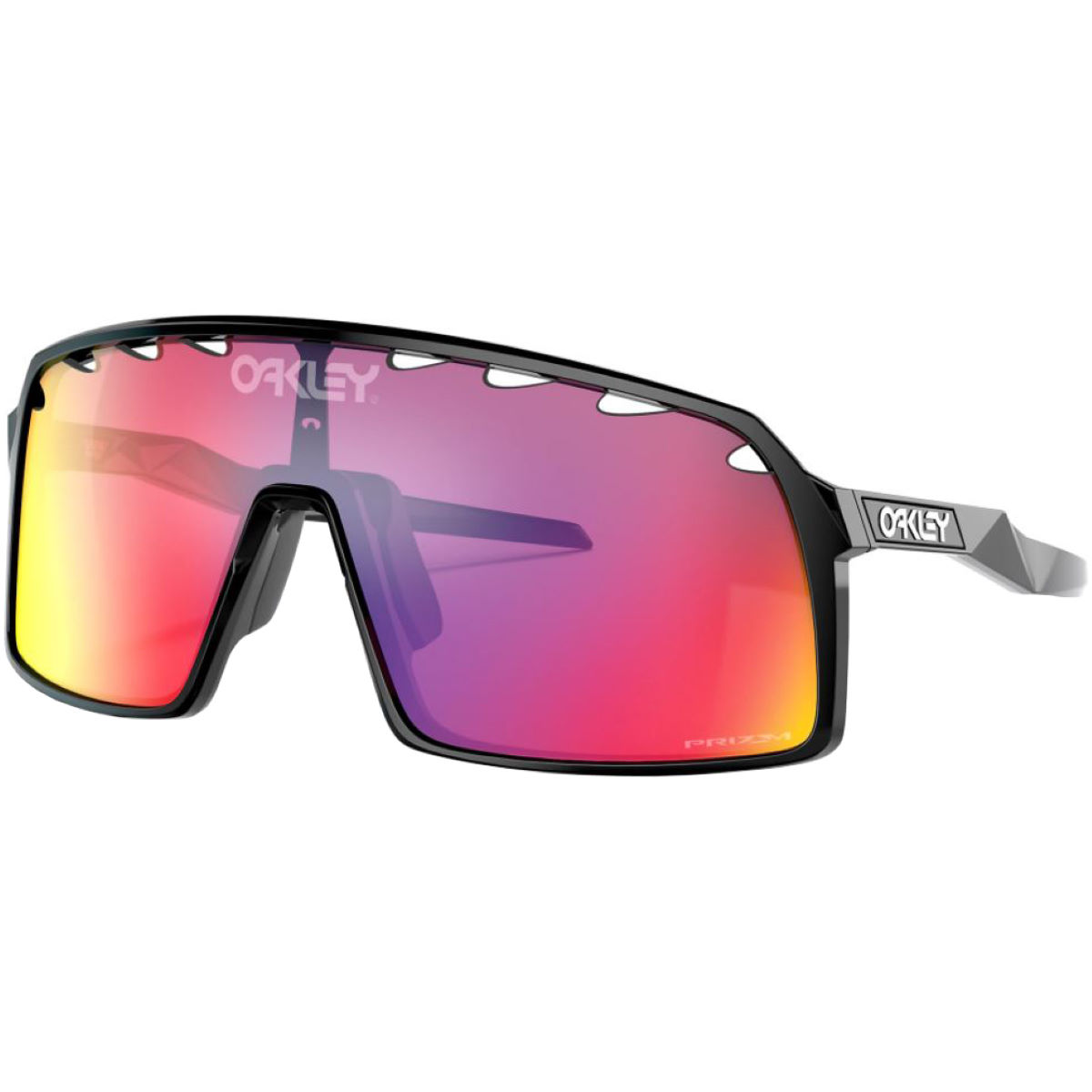 Oakley Sutro Polished Black Prizm Road Sunglasses - One Size