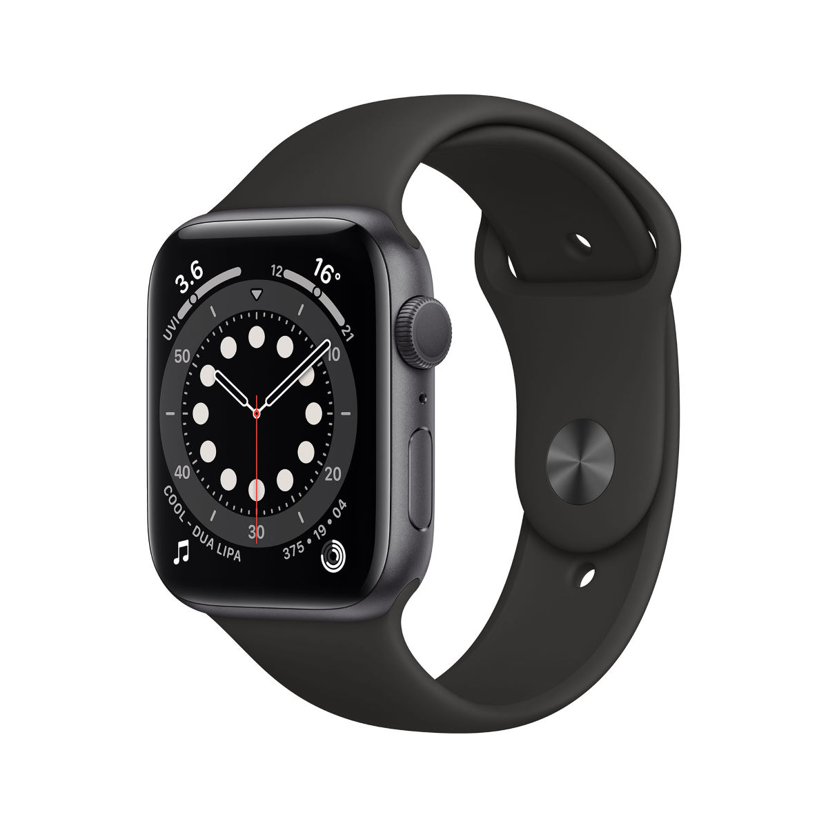 Reloj Apple Watch Series 6 GPS Cell (44 mm,  correa negra gris espacial) - Relojes