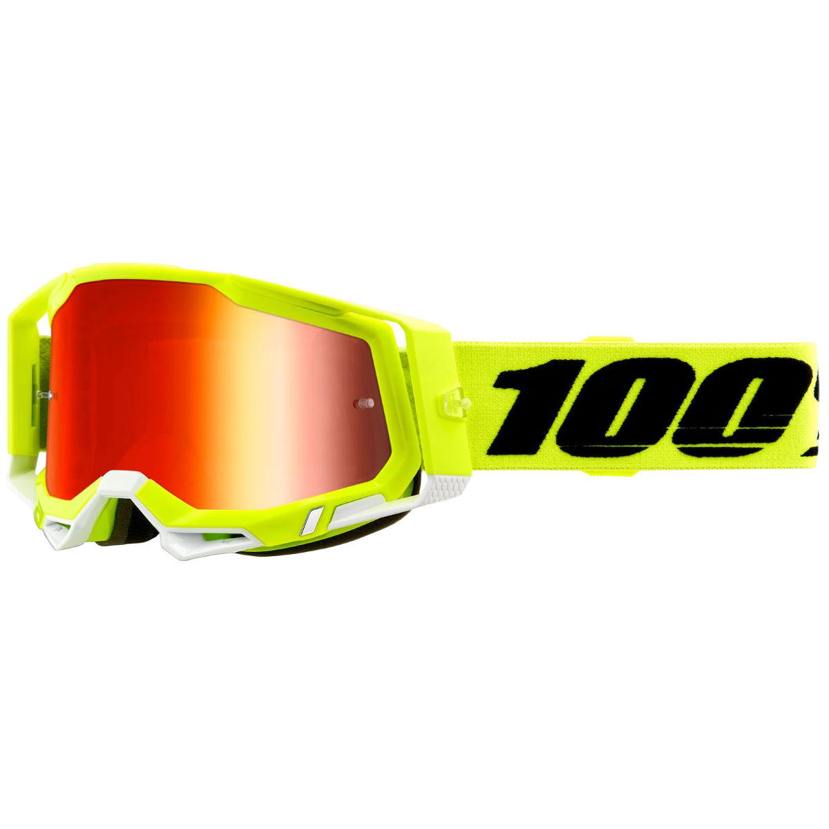 100% Racecraft 2 Mtb Goggles - One Size Yellow  Cycling Goggles