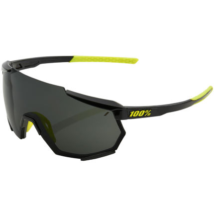 100% Racetrap Gloss Black Sunglasses
