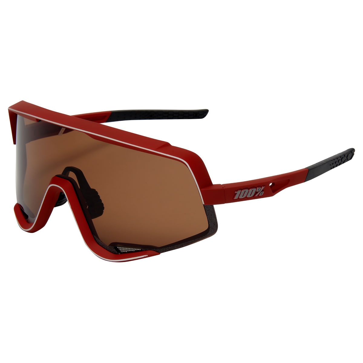 100% Glendale Soft Tact Bordeaux Sunglasses - One Size Burgundy