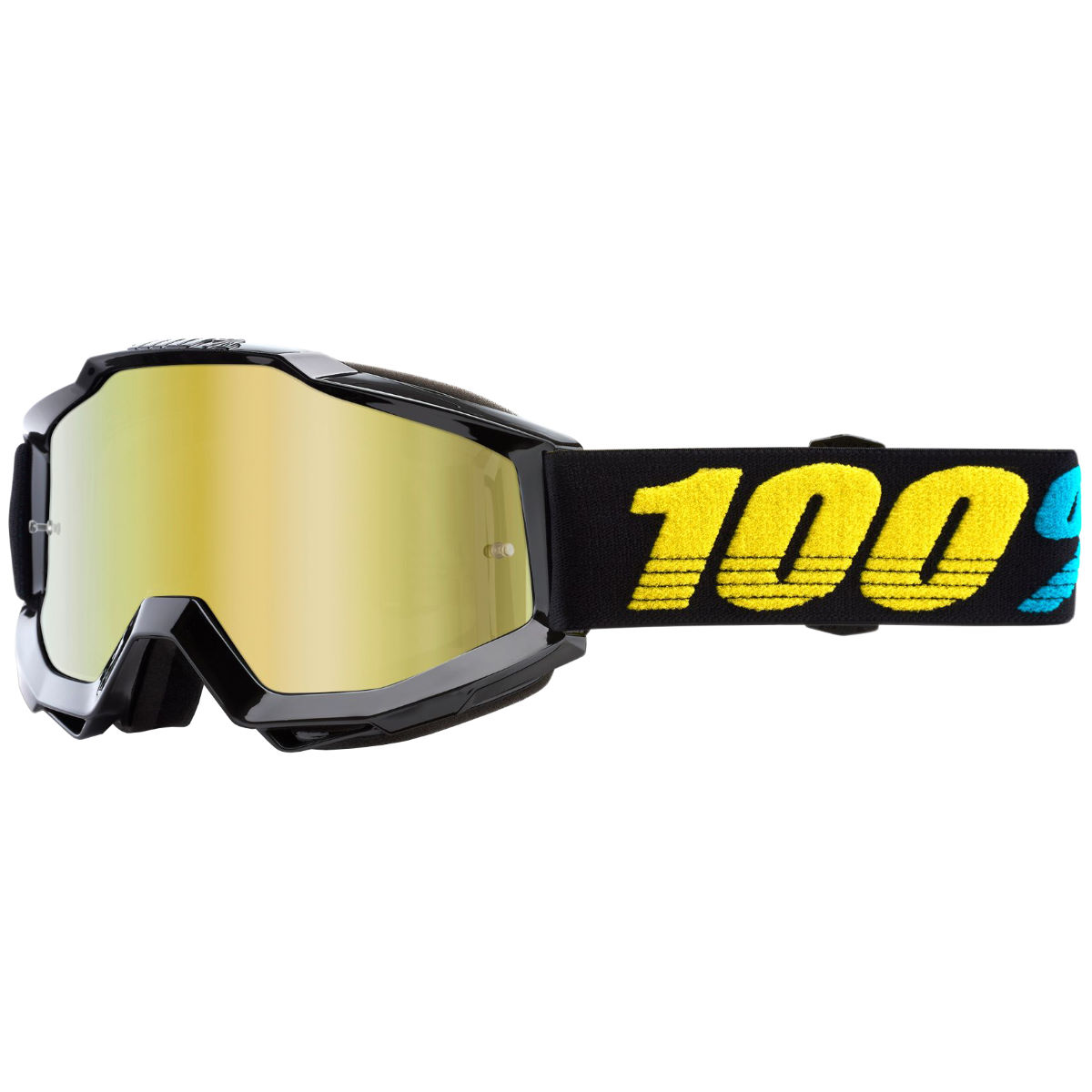 100% Accuri Virgo Mirror Gold Lens Goggles - One Size