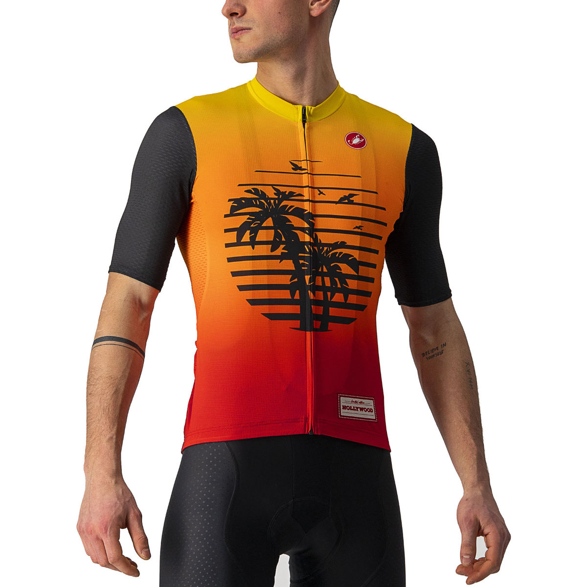 Castelli Hollywood Competizione Cycling Jersey - Xs Hollywood Sunset