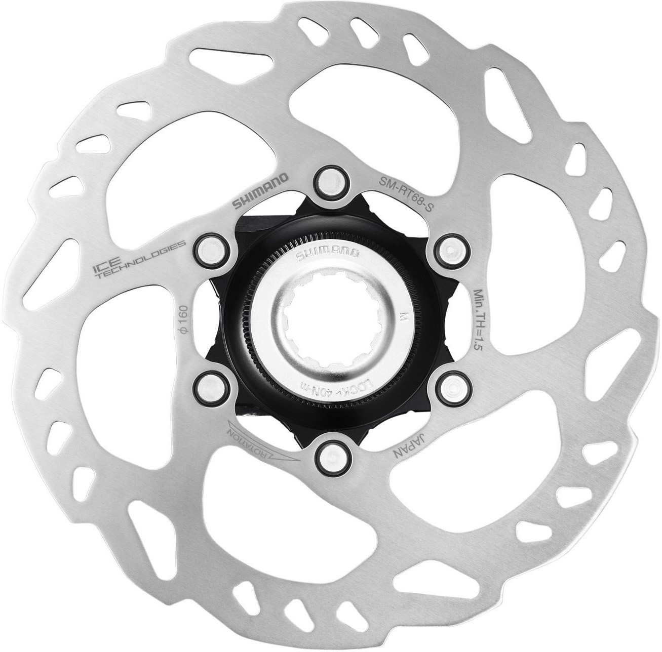 Shimano SLX RT68 Ice-Tech Centre Lock Disc Rotor | Brake pads