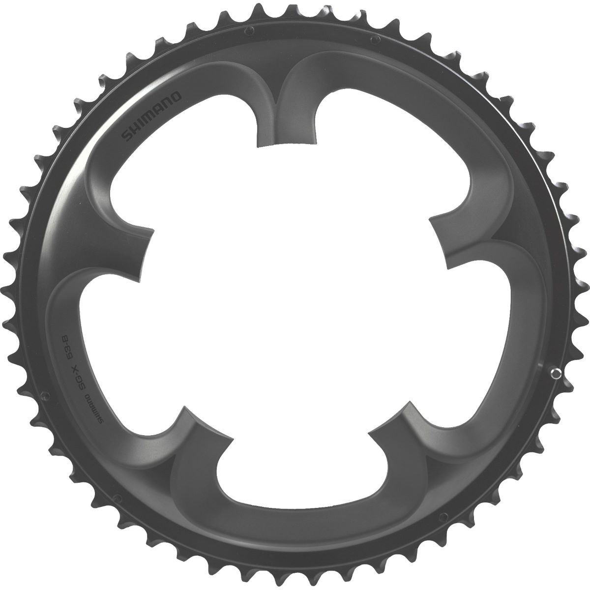 Shimano Ultegra Fc6700 10sp Double Chainrings - 52t 10 Speed Grey