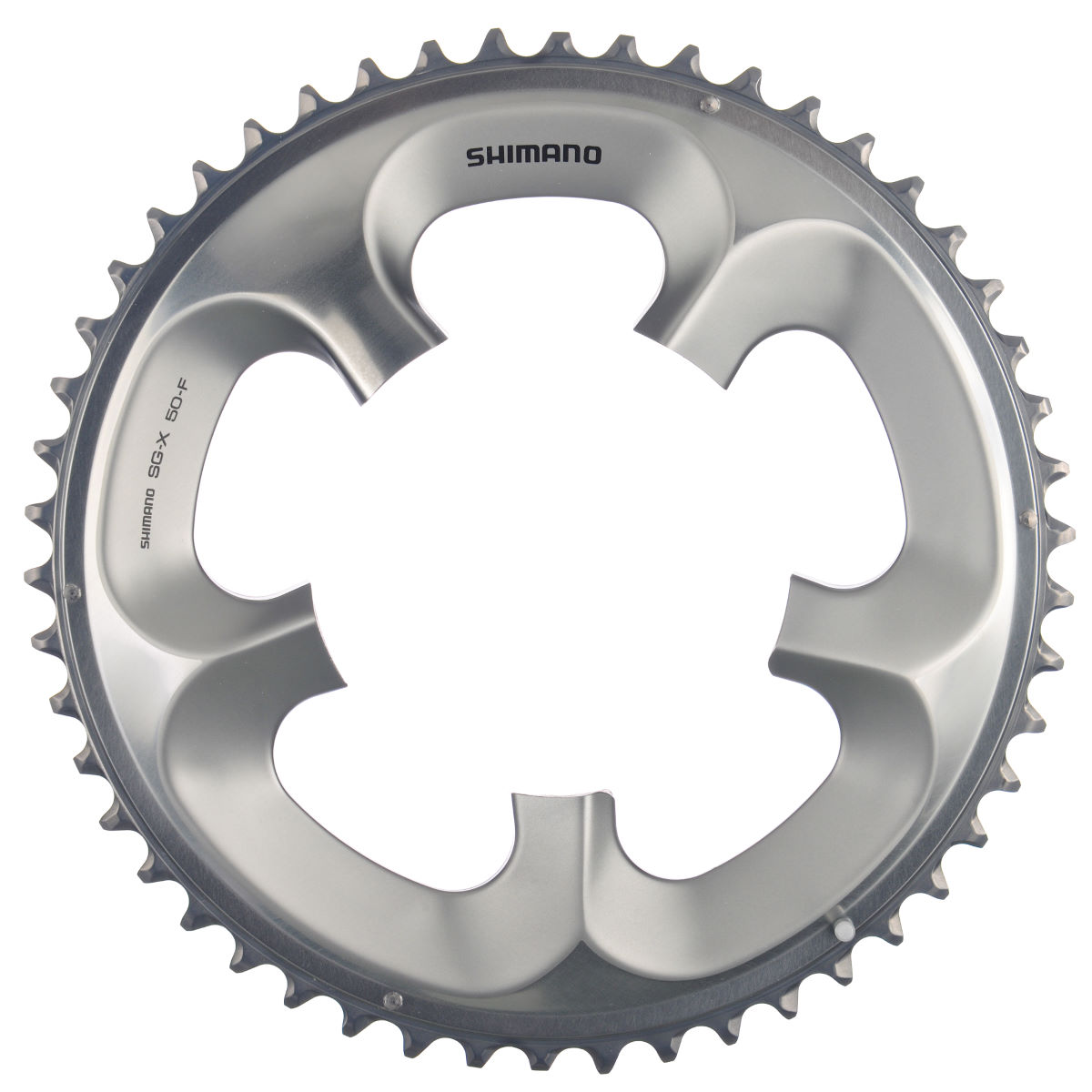Shimano Ultegra Fc6750 10sp Compact Chainrings - 50t 10 Speed Silver