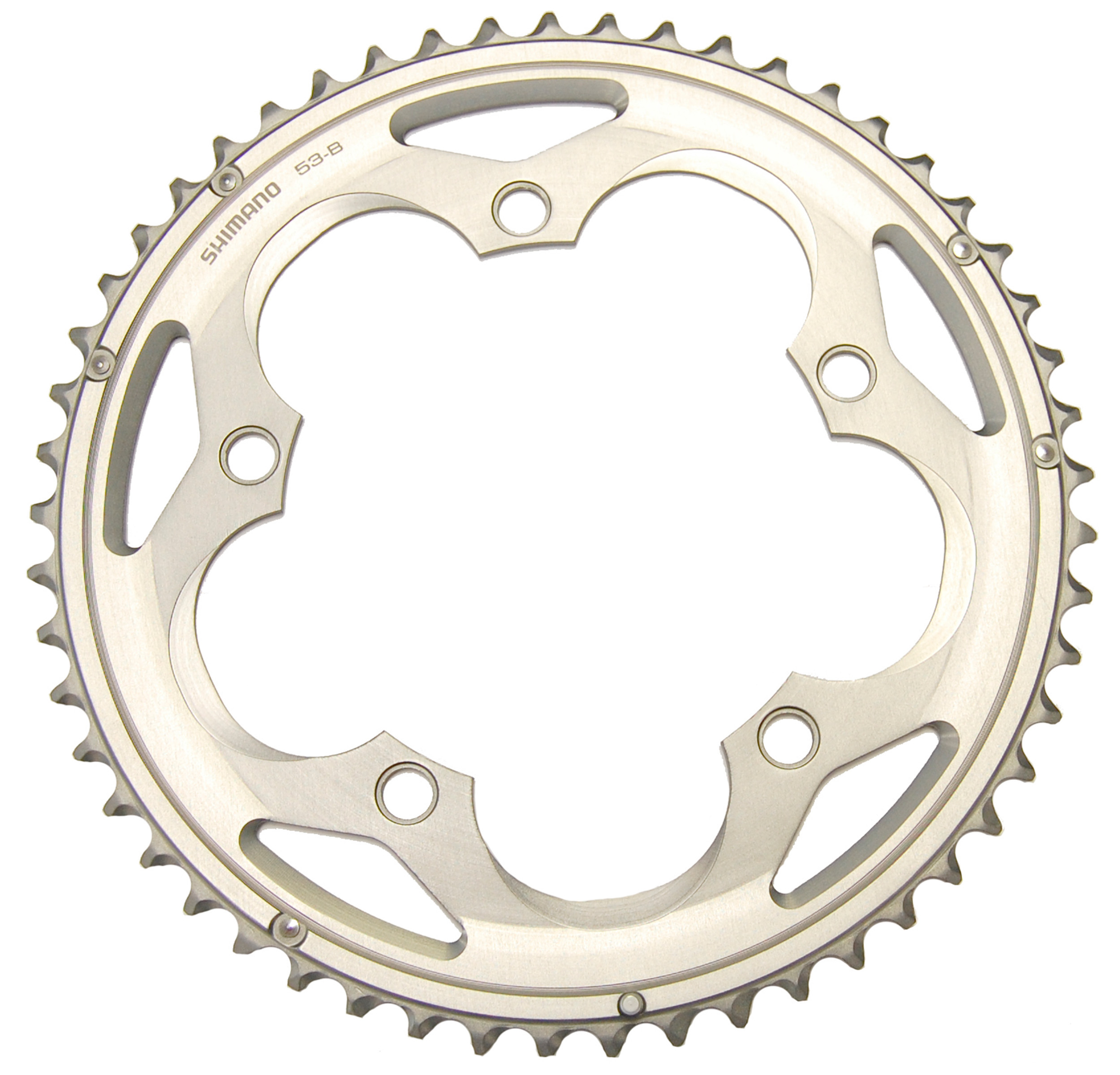 Shimano 105 5700 53t 130mm 10-Speed Chainring Silver