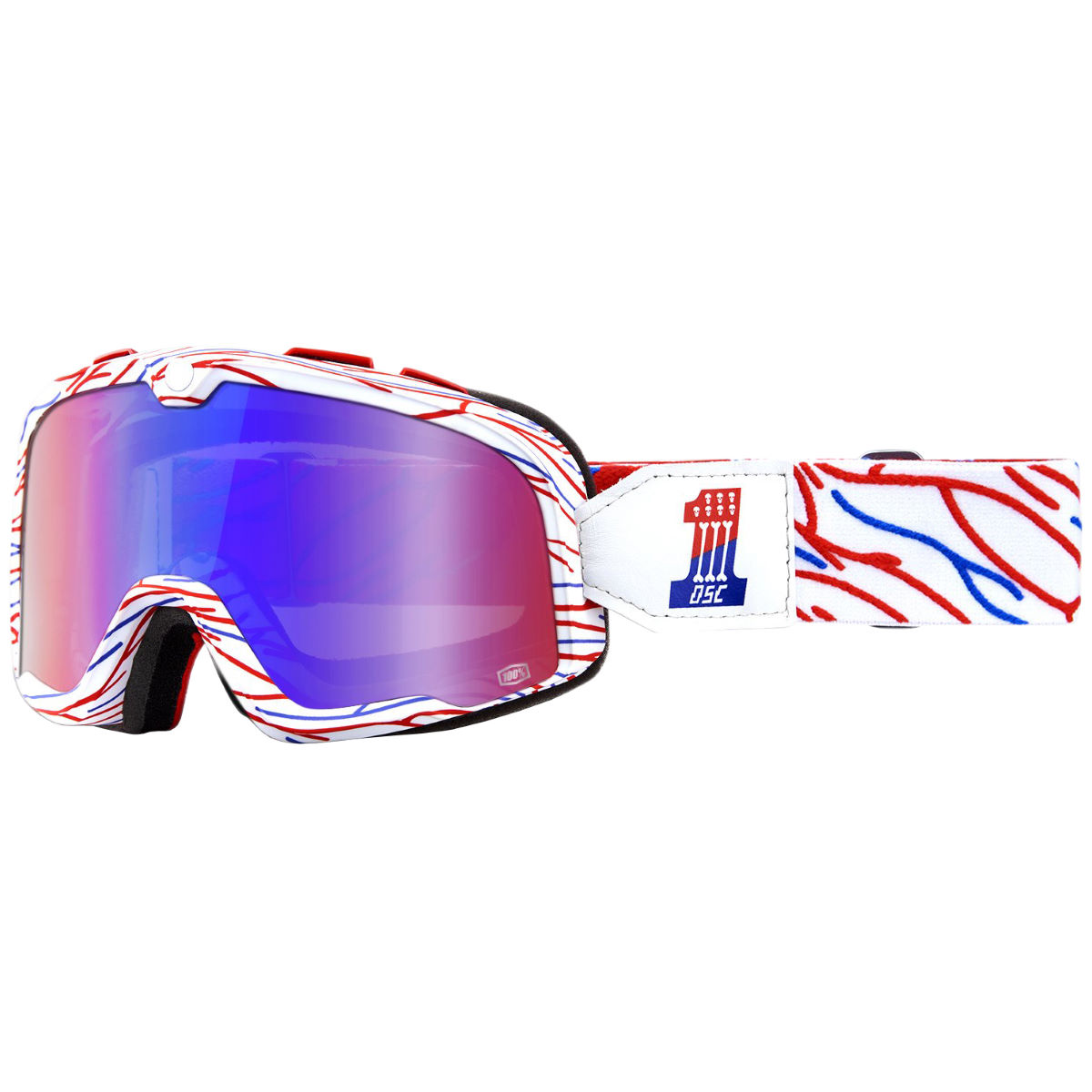 100% Barstow Goggles - One Size Death Spray Customs  Cycling Goggles