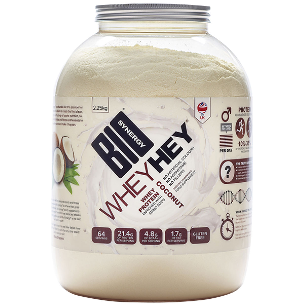 Bio-synergy Whey Hey Coconut Protein Powder (2.25kg) - 2.25kg