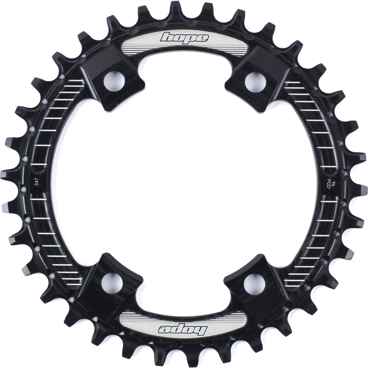 Hope M8000/mt700 Retainer Ring - 34t 9/10/11 Speed Black  Chain Rings
