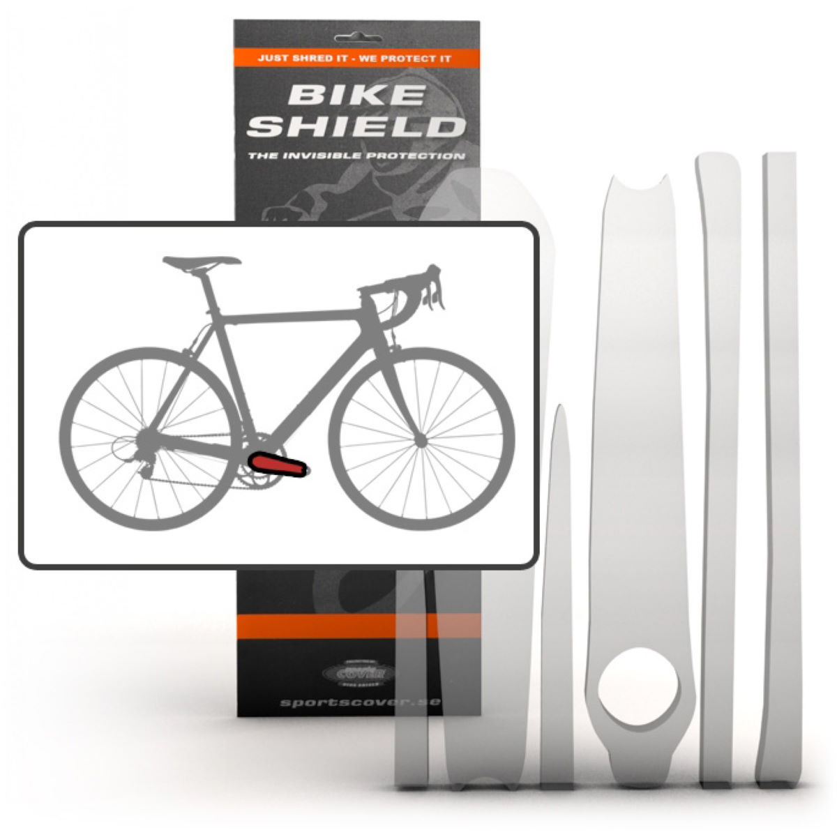 Image of Pack de protections Bike Shield Crankshield - Taille unique Clair