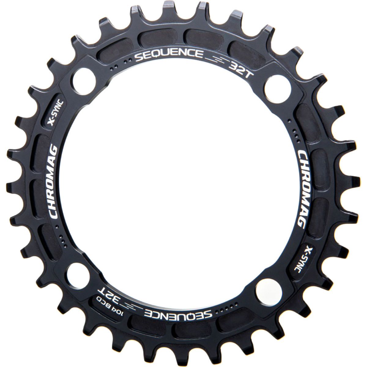 Chromag Sequence 104 Bcd X-sync Chainring - 30t 9/10/11 Speed Black