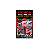 100% Geico Honda Sticker Sheet