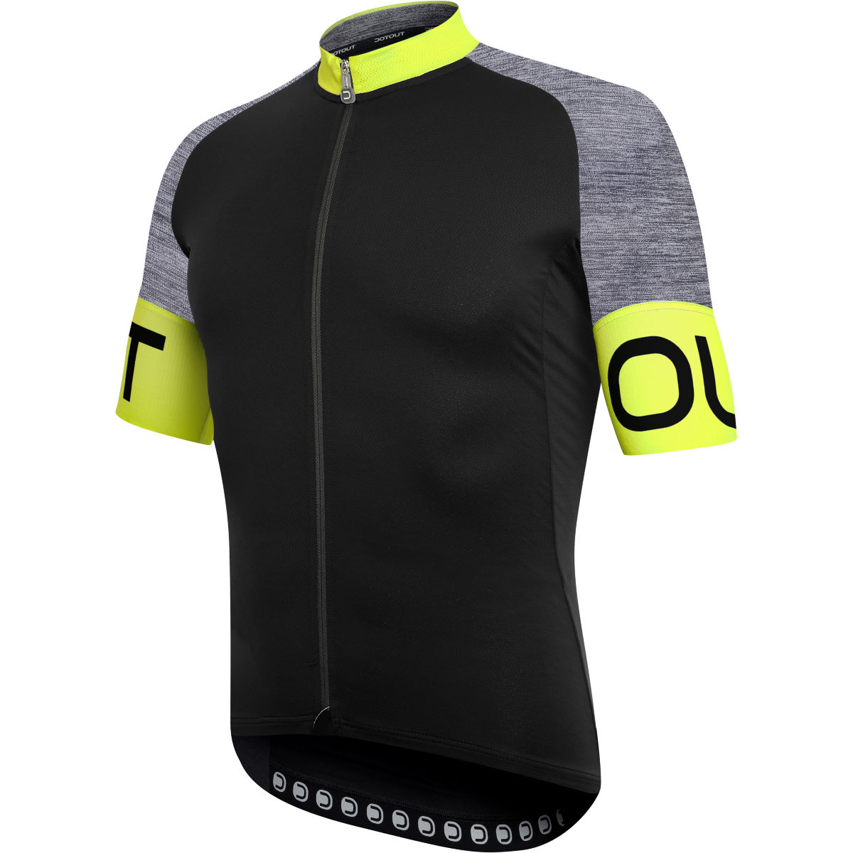 Image of Maillot Dotout Pure - S Black - Yellow | Maillots