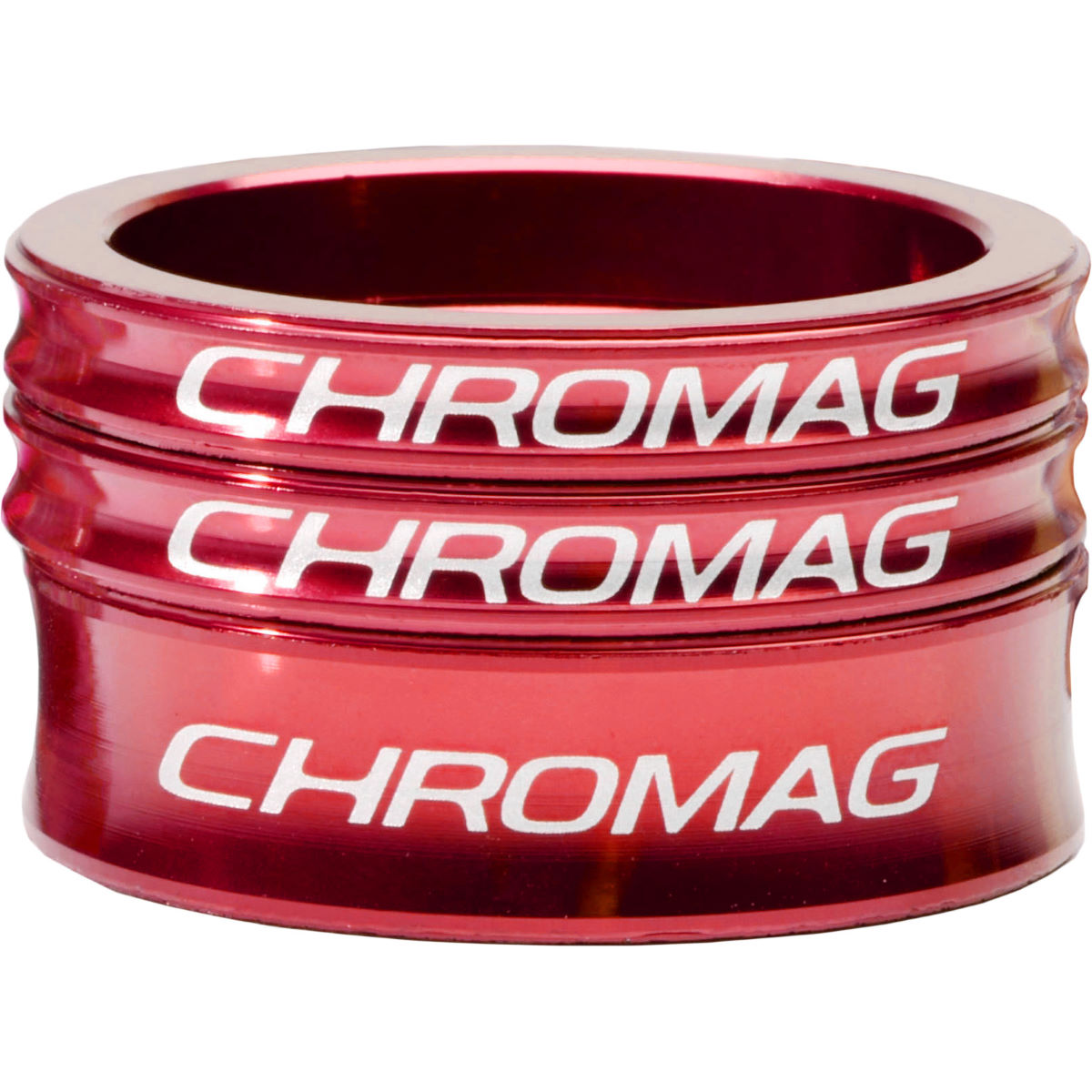 Chromag Headset Spacer Kit - 1.1/8 Red  Headset Spacers