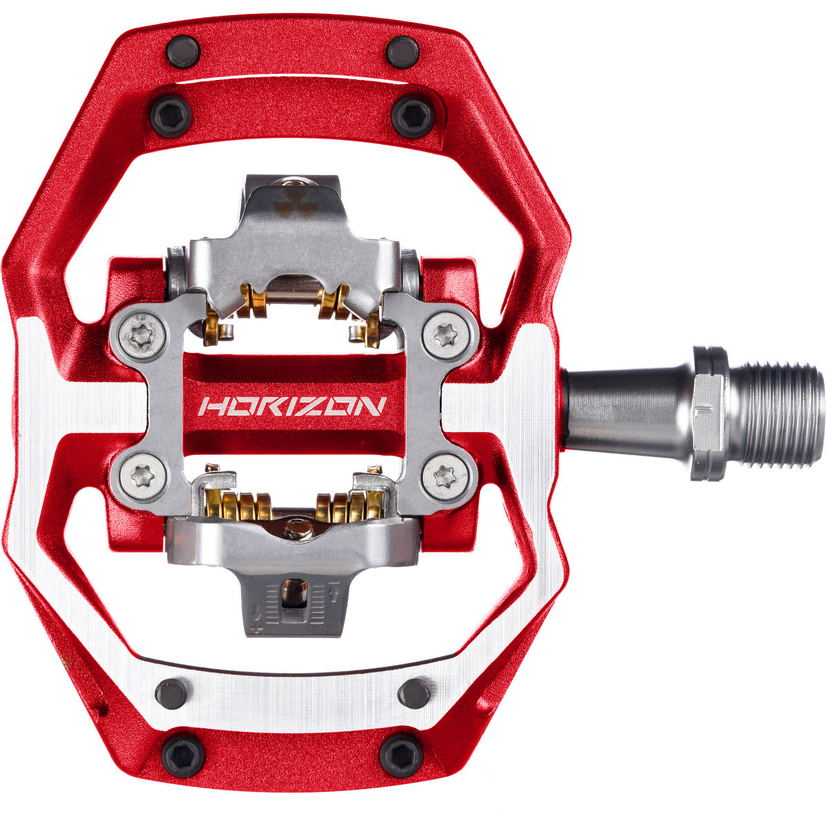 Nukeproof Horizon Cs Crmo Trail Pedals - Red  Clip-in Pedals