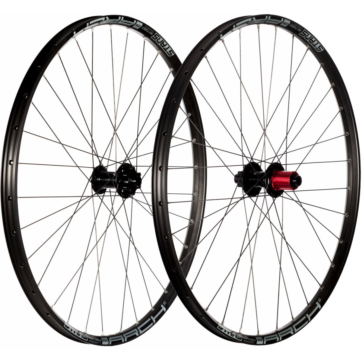 Stans No Tubes Arch S1 MTB Wheelset – 29″ 148mm Shimano Black