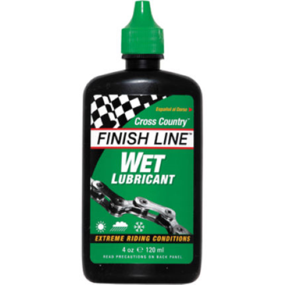 Finish Line Cross Country Wet Lubricant 120ml Bottle - 120ml  Lube