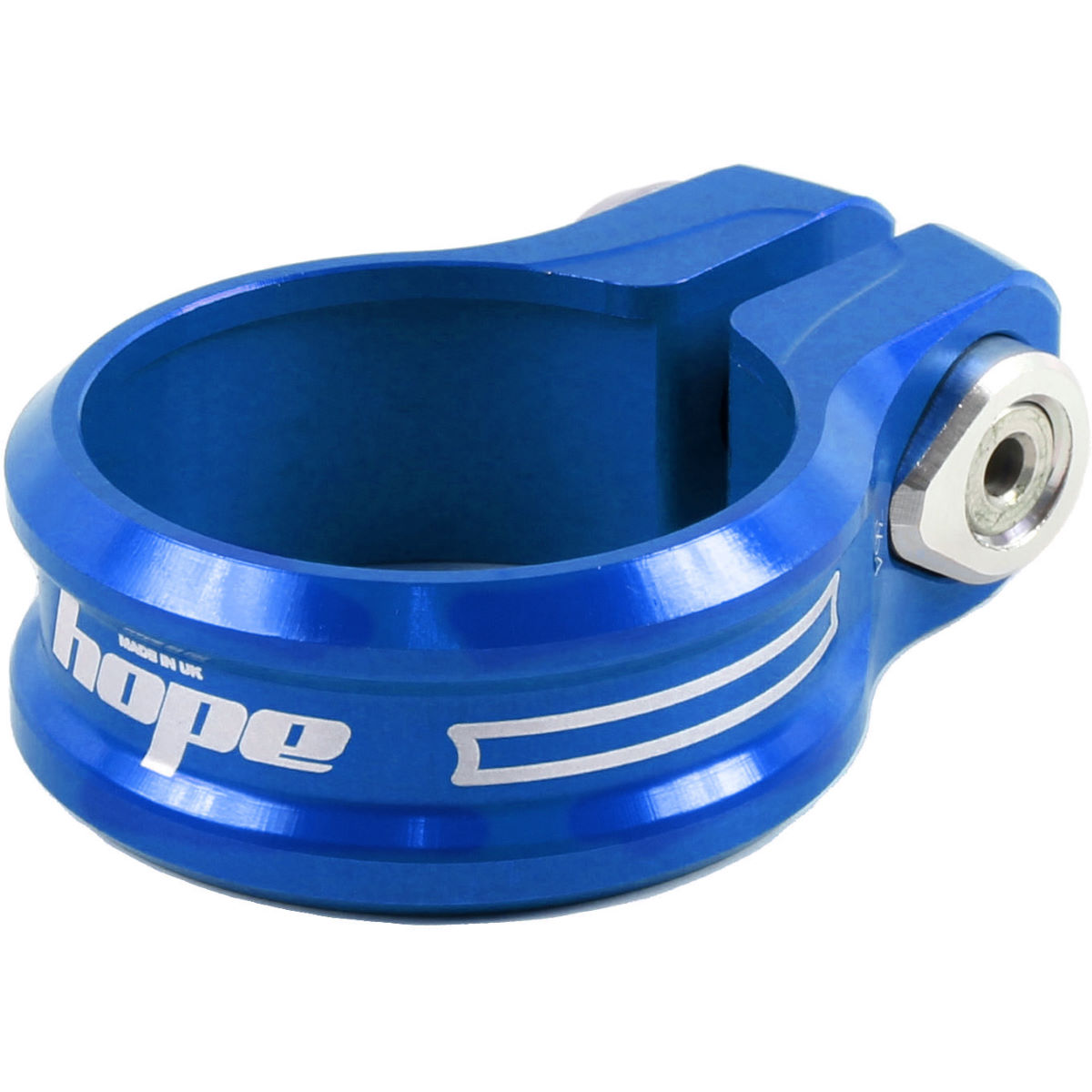 Hope Single Bolt Seat Post Clamp - 34.9mm Blue  Seat Post Clamps