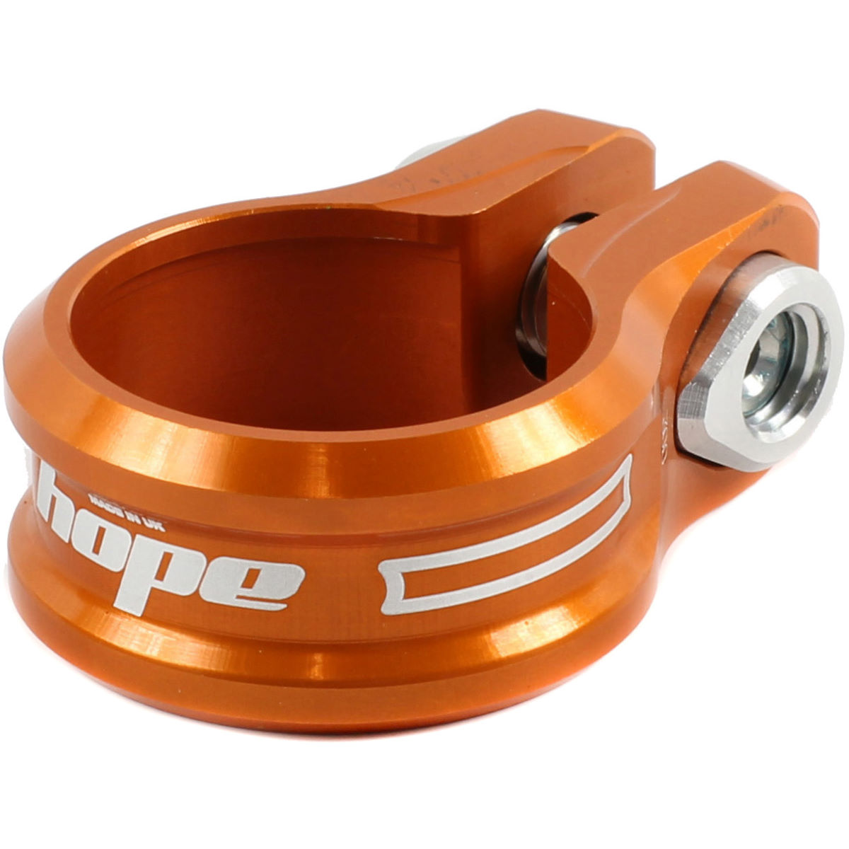 Hope Single Bolt Seat Post Clamp - 31.8mm Orange  Seat Post Clamps