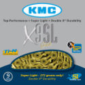 KMC X9-SL Gold 9 Speed Chain