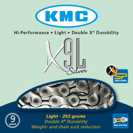KMC X9-L Silver 9 Speed Chain