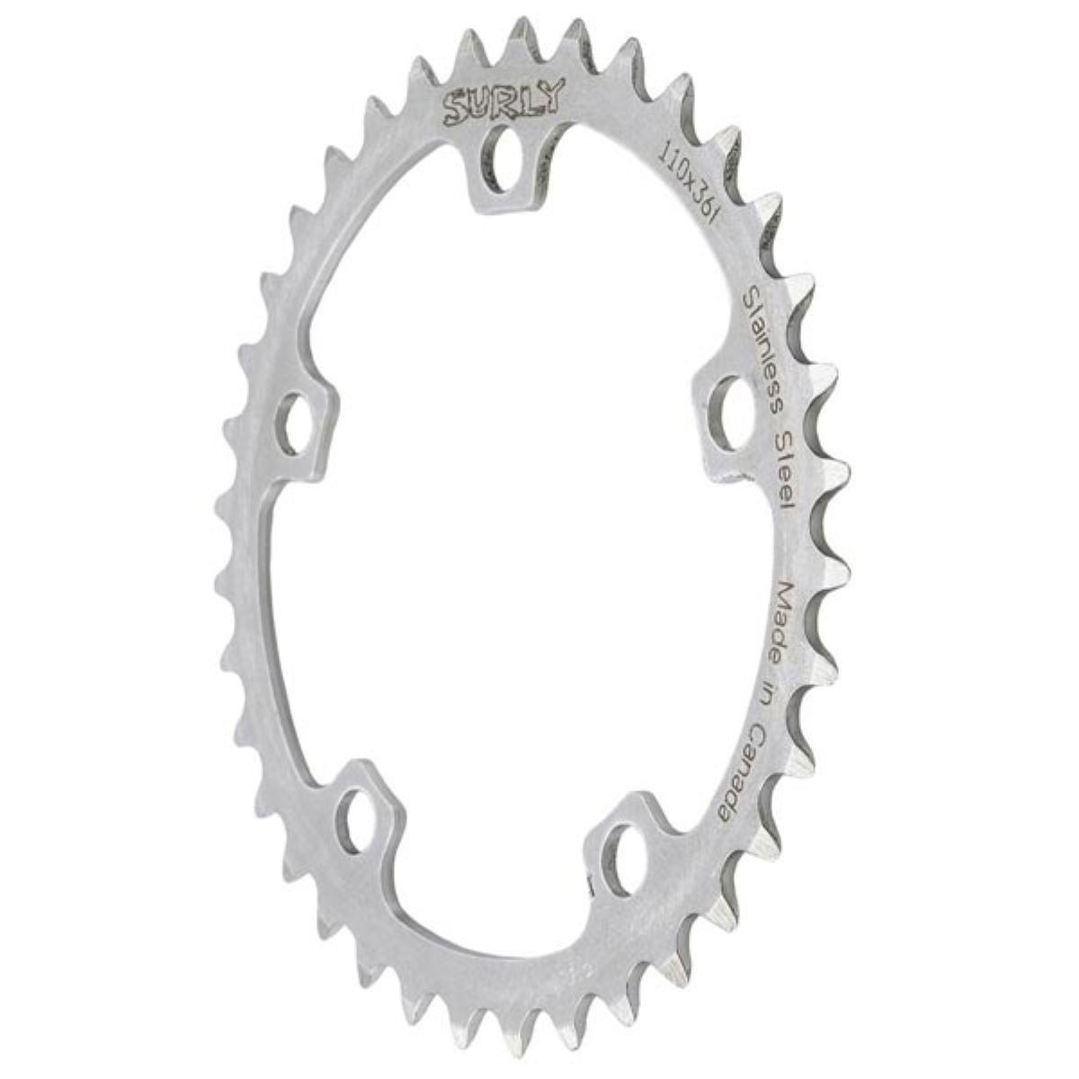 Surly Surly Stainless Steel 38T to 44T Chainring   Chain Rings