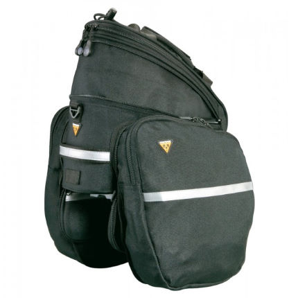 View In 360 Play Video 1 2 Black Topeak Rx Trunk Bag Dxp With Side Panniers