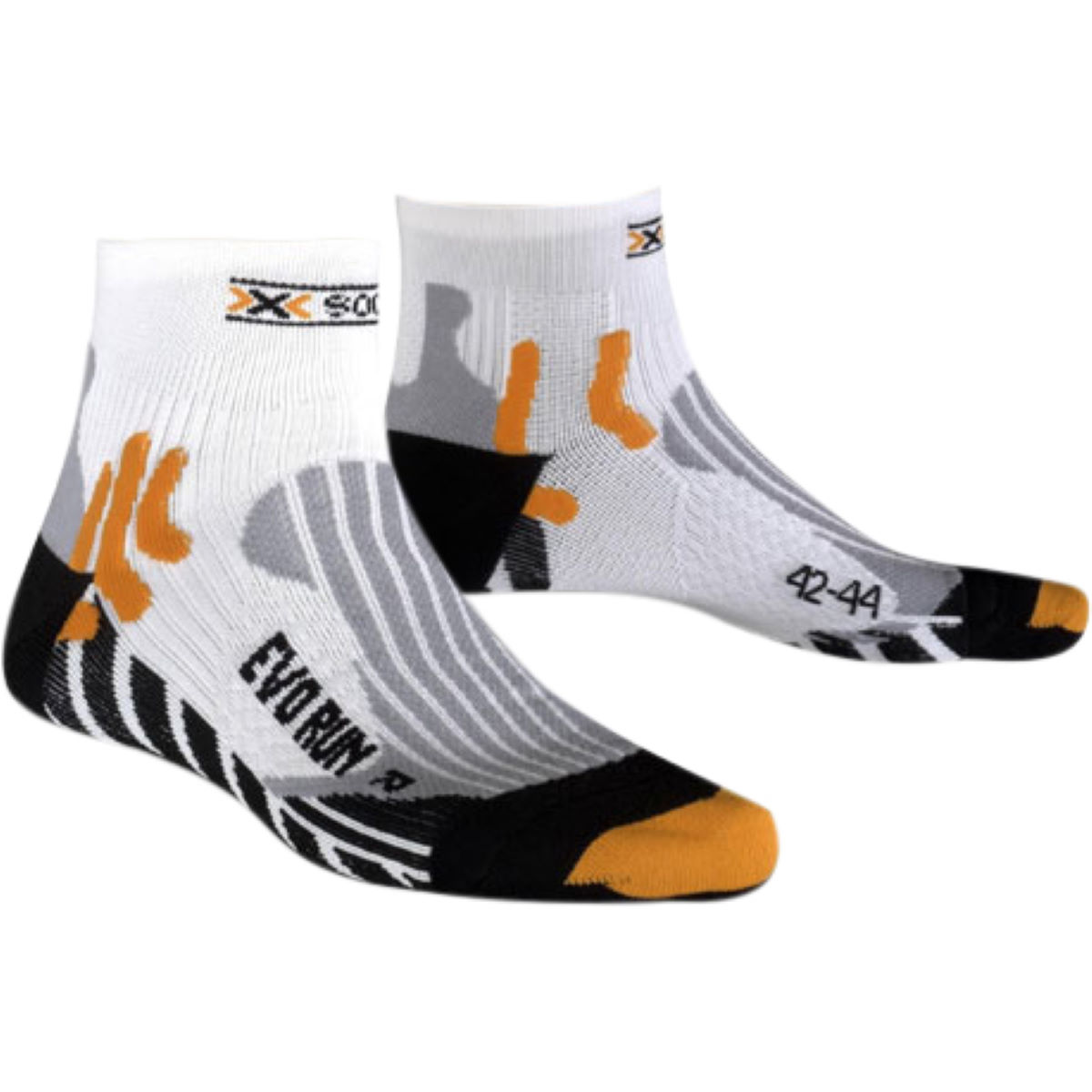 X socks evo run socks running socks white black x020300 x50