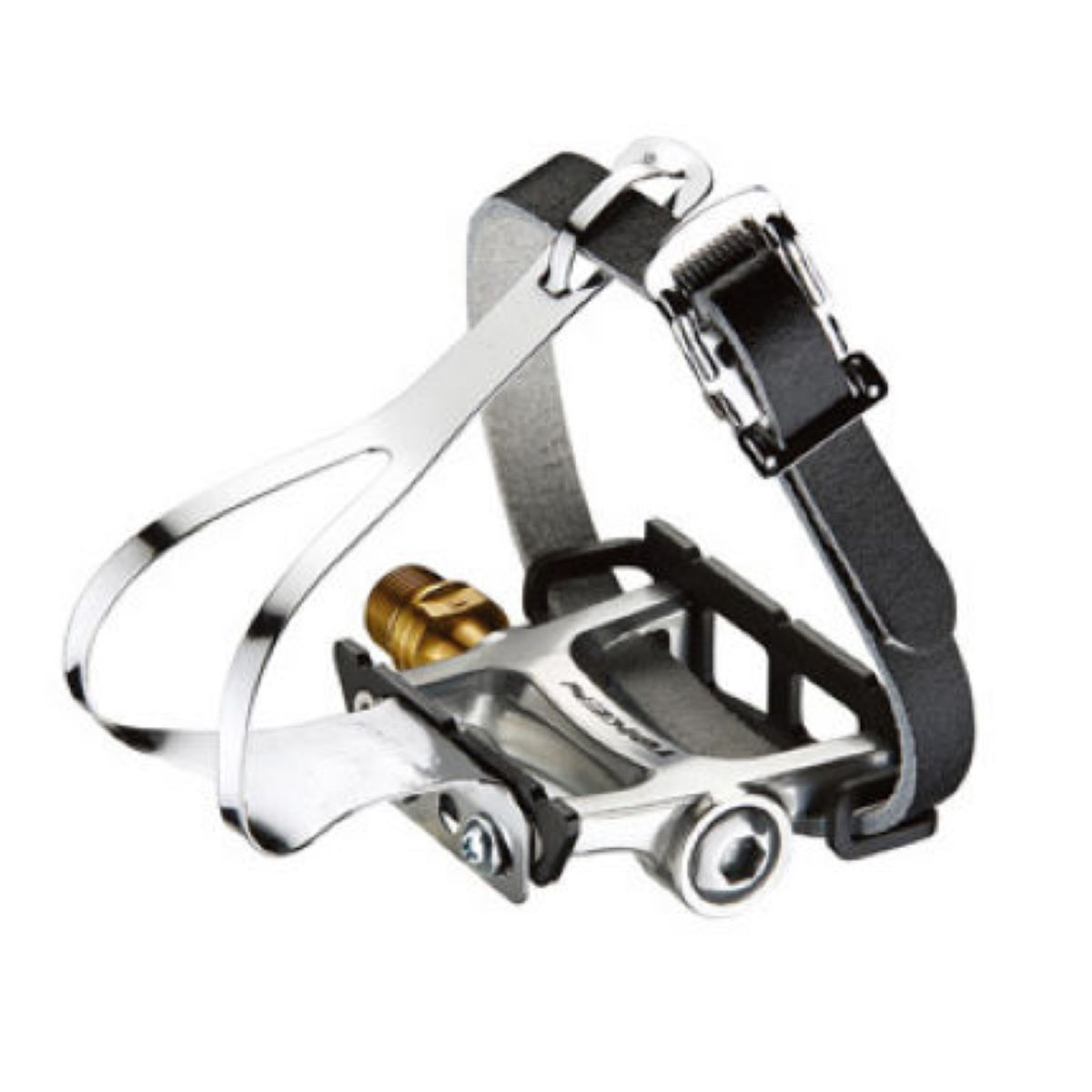 Token Tk456 Track Pedal With Toe Clip - One Size Silver  Pedal Spares