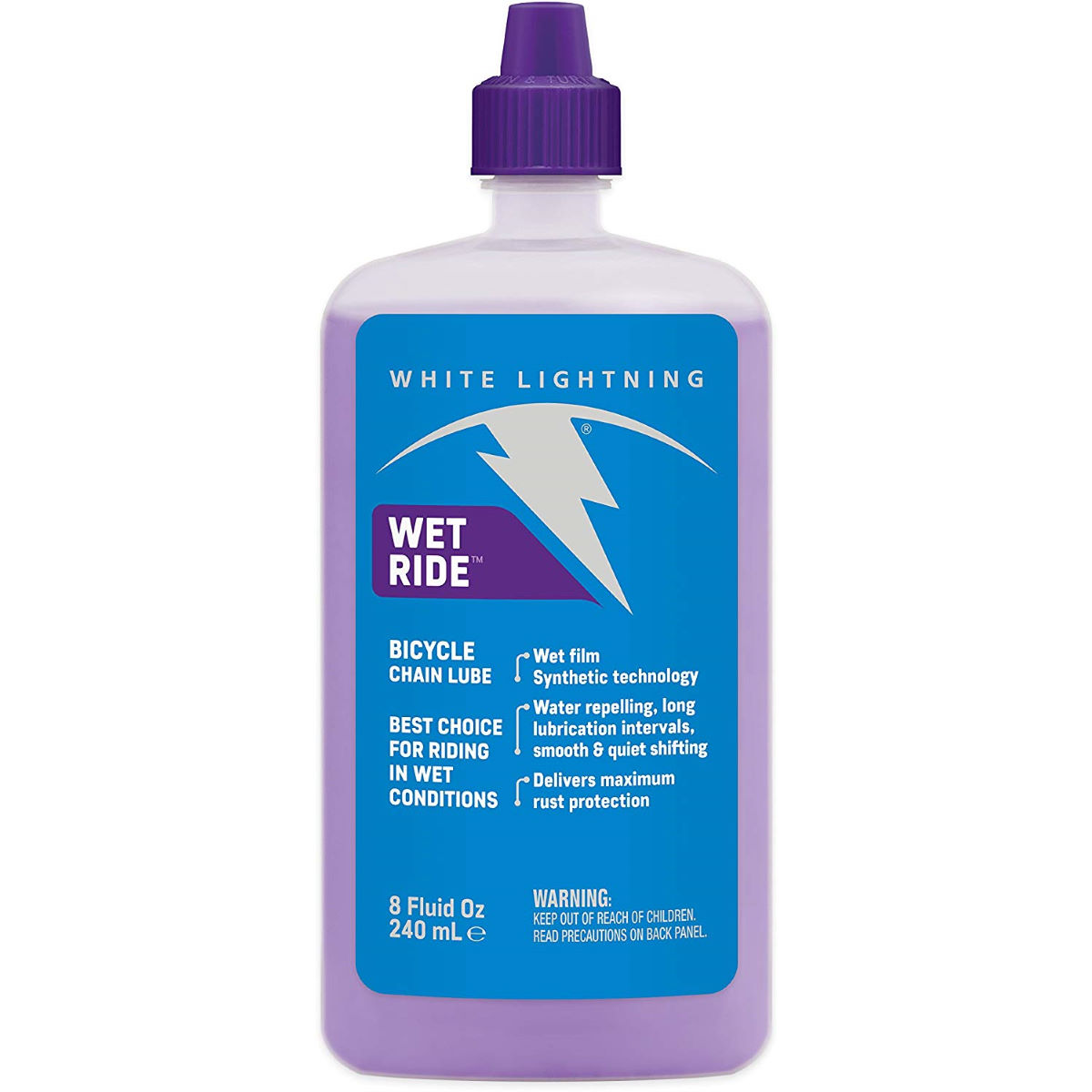Image of Lubrifiant synthétique White Lightning Wet Ride (240 ml) - 240ml