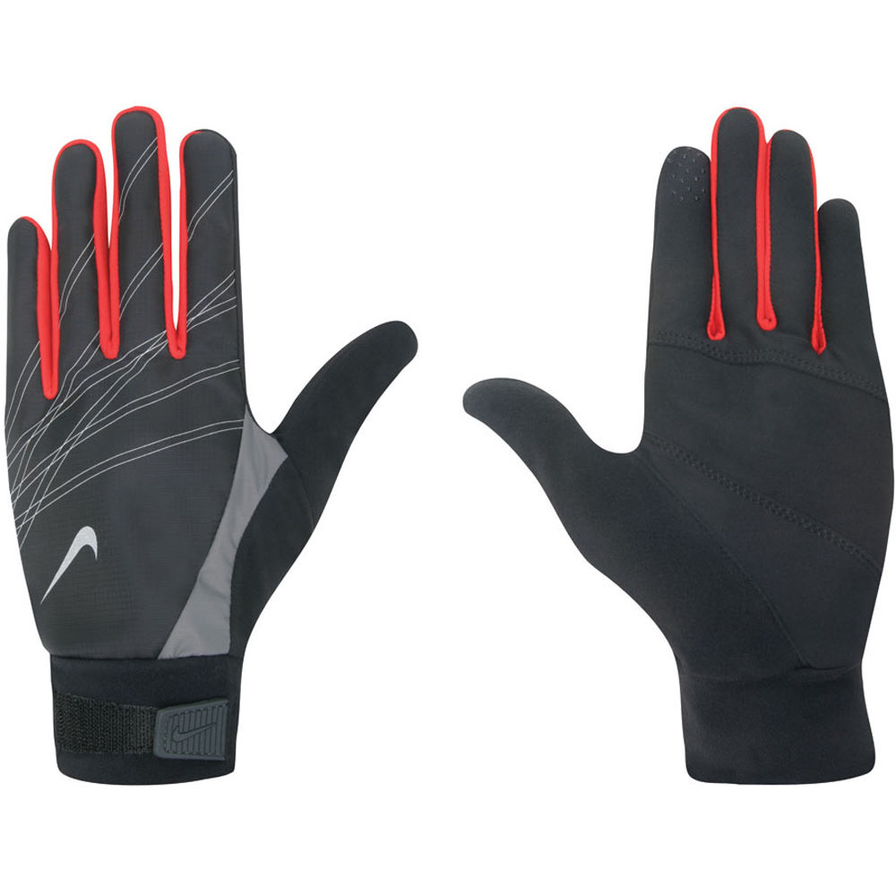Nike Velcro Gloves: Nike Mens Elite Storm Fit Run Glove SS12
