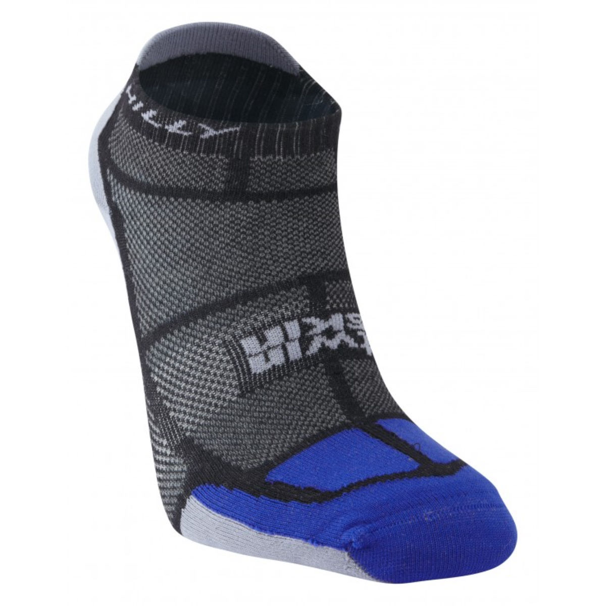 Chaussettes Hilly TwinSkin - L Black/Blue/Grey  Chaussettes