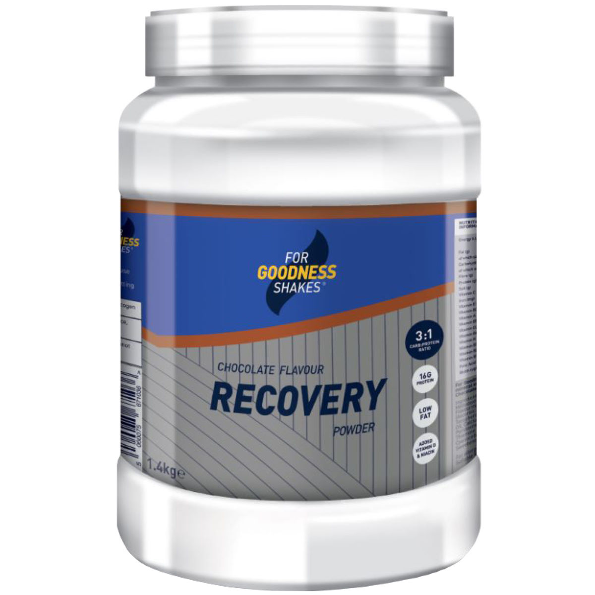 For Goodness Shakes Recovery Powder (1.4kg) - 1.4 Kg Chocolate