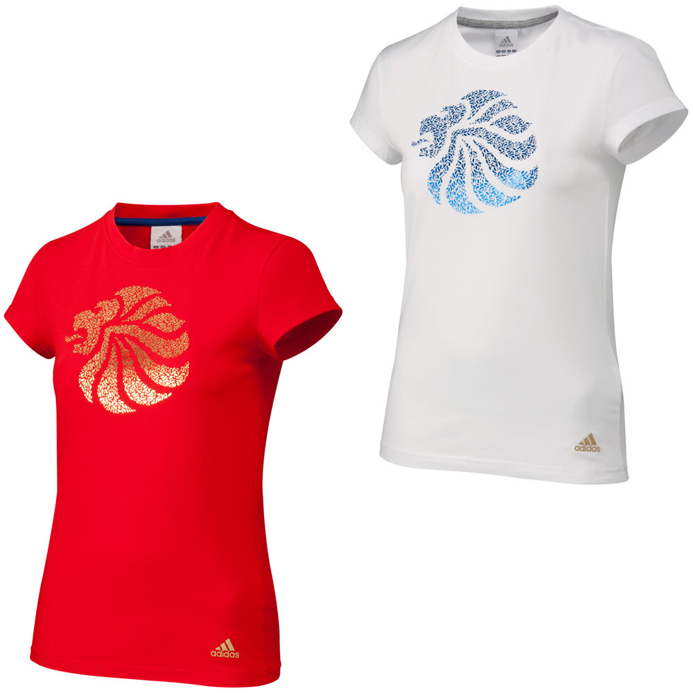 adidas team gb damen t shirt t shirts wiggle deutschland. Black Bedroom Furniture Sets. Home Design Ideas