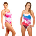 Z3R0D Ladies 1 Piece Printed Swimsuit