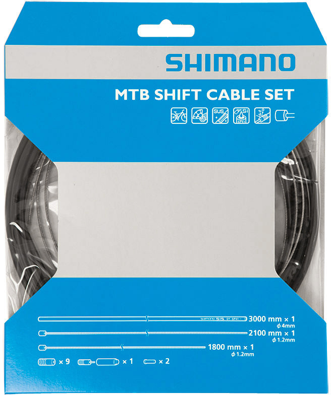 Shimano MTB Gear Cable Set with Stainless Steel Wire | Gear cables