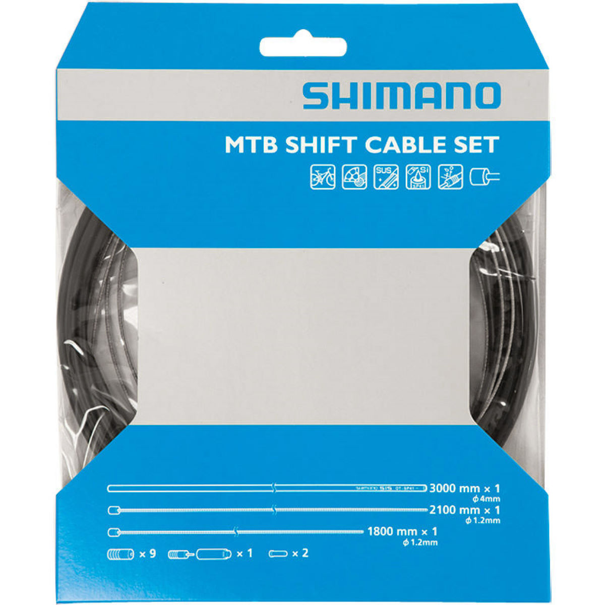 Shimano MTB Gear Cable Set with Stainless Steel Wire