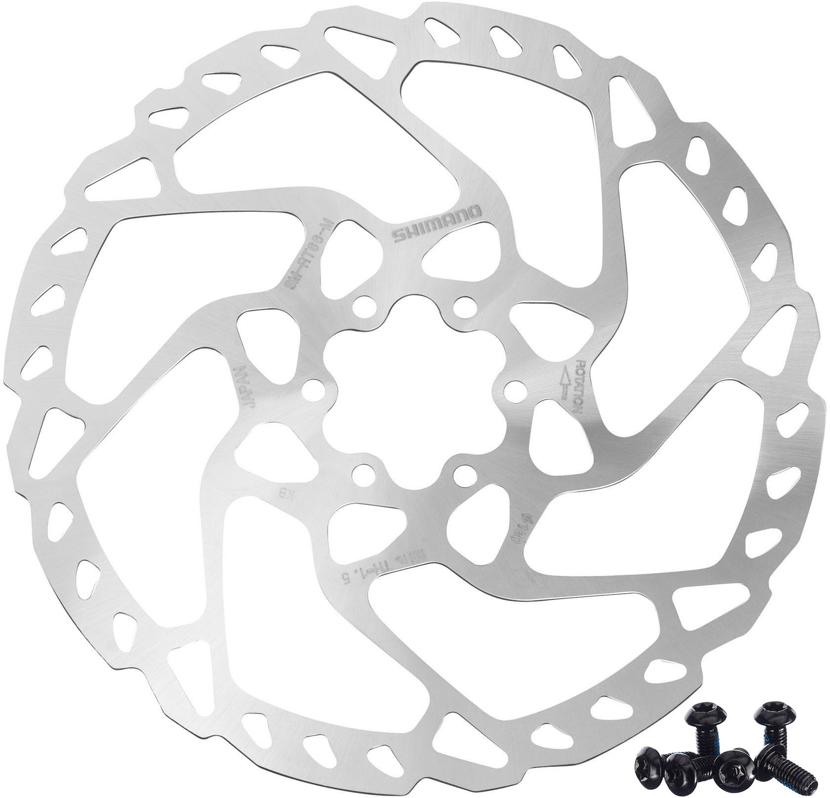 Shimano SM-RT66 SLX 6-Bolt Disc Brake Rotor 160mm
