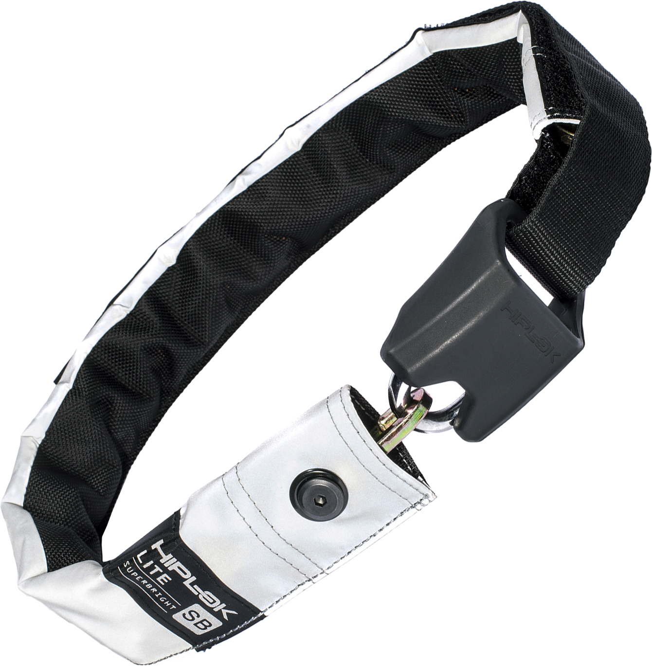 Black//White Hiplok LITE Wearable Chain Bike Lock Multicolour