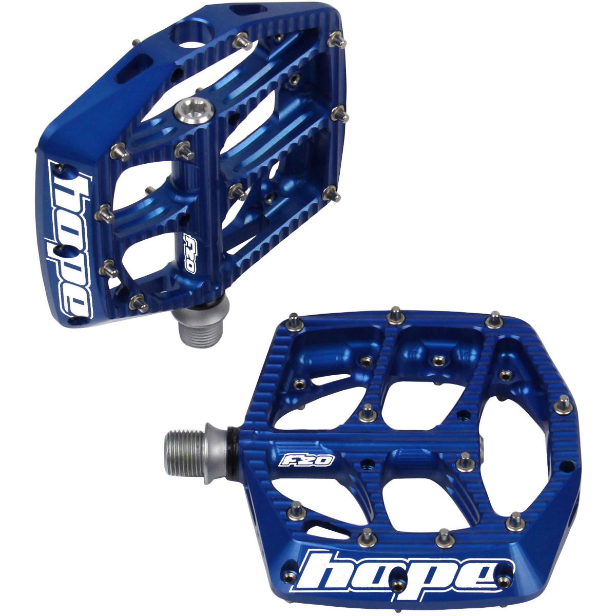 Hope F20 Pedals - One Size Blue  Flat Pedals