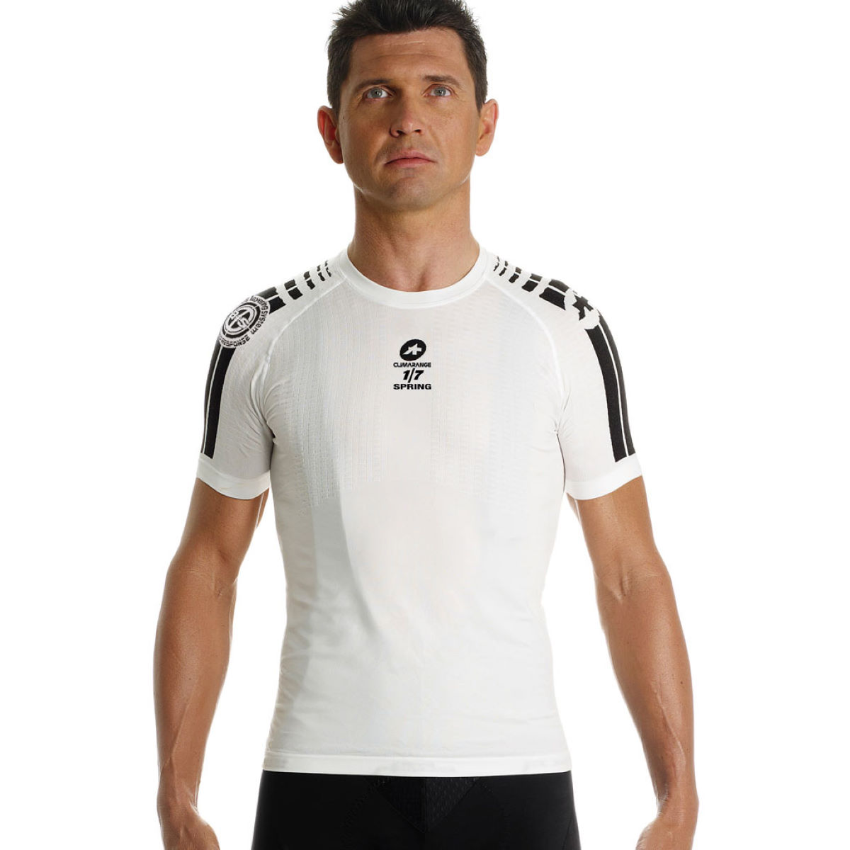 Assos ss skinfoil spring short sleeve base layer base layers white ss14 ave411we3 0